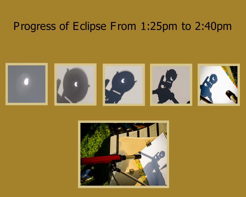 Progress of the Eclipse